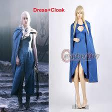 Game Thrones Halloween Costumes Khaleesi Gallery U003e Daenerys Targaryen Blue Cape Attire