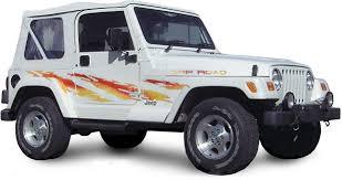 jeep wrangler stickers shredder vinyl graphics decals stripes kit universal fit shown