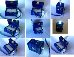 doctor who wedding ring tardis wedding ring box with led light handmade tardis engagement