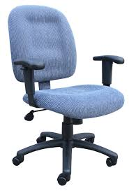 Best Office Chairs Sky Blue Ergonomic Fabric Task Office Chairs With Adjustable Arms