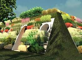 Green Thumb Landscape by New Housing Looks Like Hobbit Village
