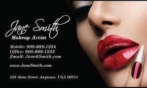 makeup artists business cards beautician and makeup artist business card design 601131