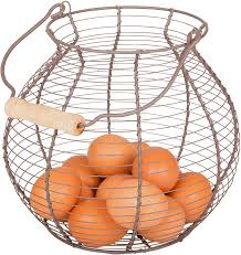 egg baskets wire egg basket vintage style by trademark