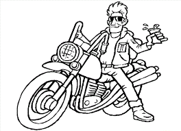 motorcycle coloring pages coloring kids
