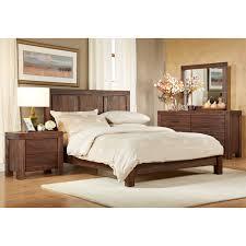 Platform Bedroom Furniture Sets Meadow Platform Bed Brick Brown Hayneedle