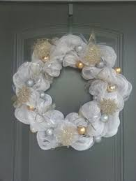 white deco mesh deco mesh white and gold christmas wreath on etsy 50 00 for