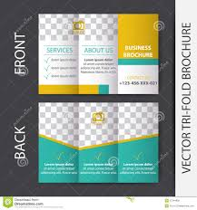 Tri Fold Program Business Tri Fold Brochure Design Stock Vector Image 53744966