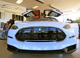 suv tesla blue the new tesla u0027s signature model x available to be driven