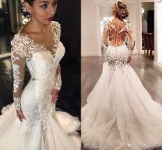 vintage long sleeves african wedding dresses 2017 illusion