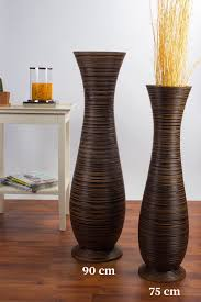 Wicker Floor Vase Tall Floor Vase 75 Cm Mango Wood Brown Online Günstig Kaufen
