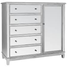 Hayworth Mirrored Bedroom Furniture Collection Hayworth Mirrored Silver Chifforobe Pier 1 Imports
