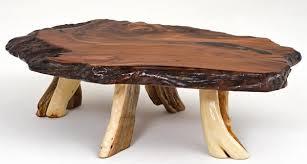 Redwood Coffee Table Redwood Coffee Table Rustic Live Edge Cabin Furniture