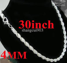 chain necklace cheap images Cool men 39 s jewelry 925 silver king size 4mm 30 men 39 s rope chain jpg