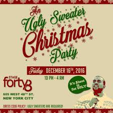 friday dec 16th the annual ugly sweater christmas party