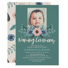 ceremony cards naming ceremony cards invitations greeting photo cards zazzle