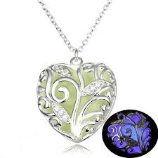 heart necklace pendant images Glow in the dark heart necklace pendant dmaxlife jpg
