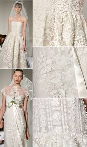 oscar de la renta lace wedding dress oscar de la renta wedding dresses collection