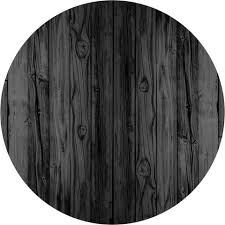 black stained wood circle wall decal wallsneedlove