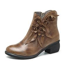 amazon canada s boots socofy leather ankle bootie s vintage handmade fashion