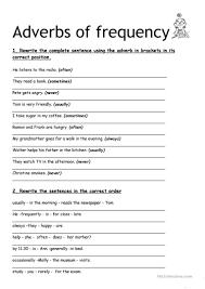 adverbs of frequency worksheet free esl printable worksheets