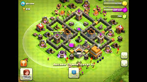 coc village layout level 5 clash of clans best town hall 5 farming base layout youtube