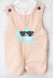 shark baby clothes shortalls zuli clothing 292434 zuli
