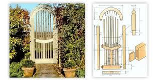 Garden Arch Plans by Wooden Garden Gates Plans U2022 Woodarchivist