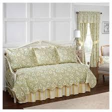 paisley verveine quilt set daybed green 5pc waverly target
