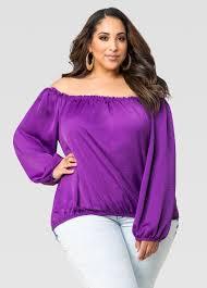 purple blouse plus size satin peasant blouse plus size blouse stewart 035 21398x