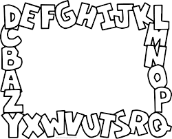 alphabet abc coloring page wecoloringpage