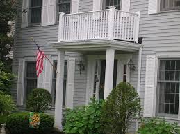vinyl balcony railing by elyria fence