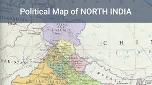 India Political Map by Political Map Of North India Indian Geography Mapping Free