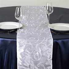 white and silver table runner silver and white table runner home design ideas and pictures