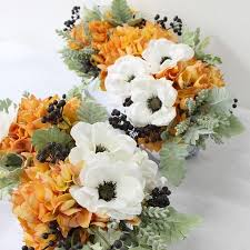 anemone flowers g home collection luxury orange hydrangea and white anemone flower