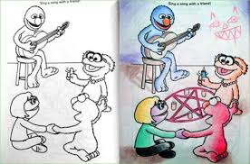 coloring book pictures gone wrong they were just normal kids coloring books until sick and twisted