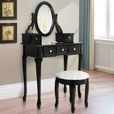 black makeup desk with drawers vanity table jewelry makeup desk bench drawer black solid wood