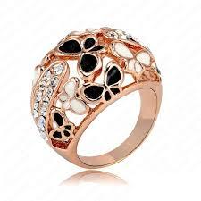 beautiful big rings images Big ring costume jewelry real rose gold color beautiful enamel jpg