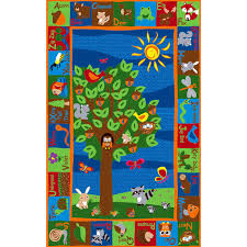 Animal Area Rugs Kid Carpet Forest Animal Alphabet Multi Colored Area Rug U0026 Reviews