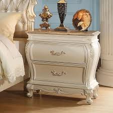 Granite Top Bedroom Furniture Chantelle Granite Top Nightstand Pearl White Nightstands