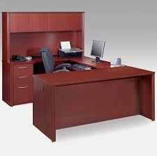 C Shaped Desk Furniture Ideas Of U Shaped Desk With Black Office Chair And