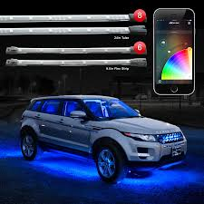 app controlled car lights 8x24 undeglow tubes 6x10 strips xkchrome ios android app