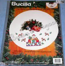 bucilla winter quilted tree skirt kit santa