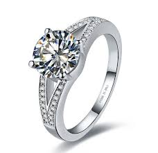 ring models for wedding aliexpress buy 2 carat high quality test positive moissanite