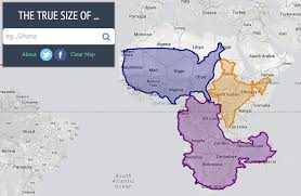 World Continents And Countries Map the true size of