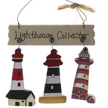 lighthouse collector on wire wood ornament signs ornaments