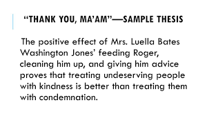 sample analytical essays pre ap analytical essay ppt video online download the positive effect of mrs luella bates washington jones feeding roger cleaning him up and giving him advice proves that treating undeserving people