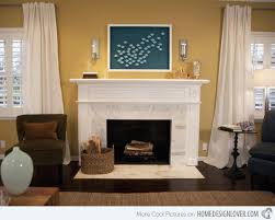 Yellow Fireplace 15 Lovely And Stylish Living Room Fireplaces Home Design Lover