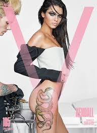 kendall jenner gets snake on leg for v magazine