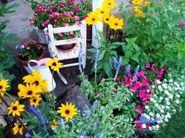 designing a flower bed for flea market junk flea market gardening