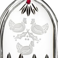 waterford lismore three hens ornament silver